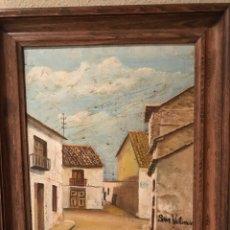 """Arte: OLEO/PINTURA""""RINCON DE UN PUEBLO VALENCIANO"""". Lote 81820030"""