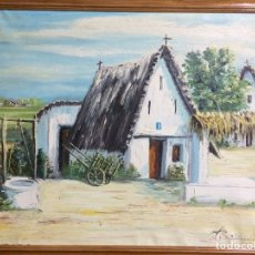 Arte: OLEO SOBRE TELA.BARRACA VALENCIANA FIMADO ROCAMORA PADRE. Lote 81857328