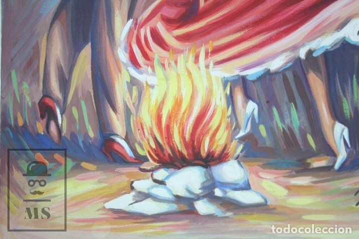 Arte: Dibujo / Ilustración Original - Bailaores Junto al Fuego / Flamenco. F. Ezquerro - Años 40-50 - Foto 5 - 81985088