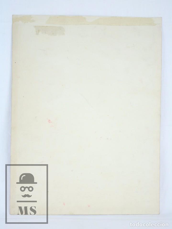 Arte: Dibujo / Ilustración Original - Bailaores Junto al Fuego / Flamenco. F. Ezquerro - Años 40-50 - Foto 6 - 81985088