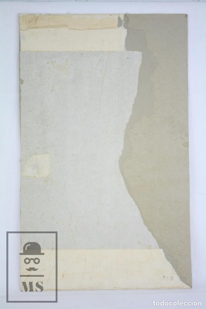 Arte: Dibujo / Ilustración Original - Torero en la Plaza de Toros. F. Ezquerro - Años 40-50 - Foto 6 - 81986228
