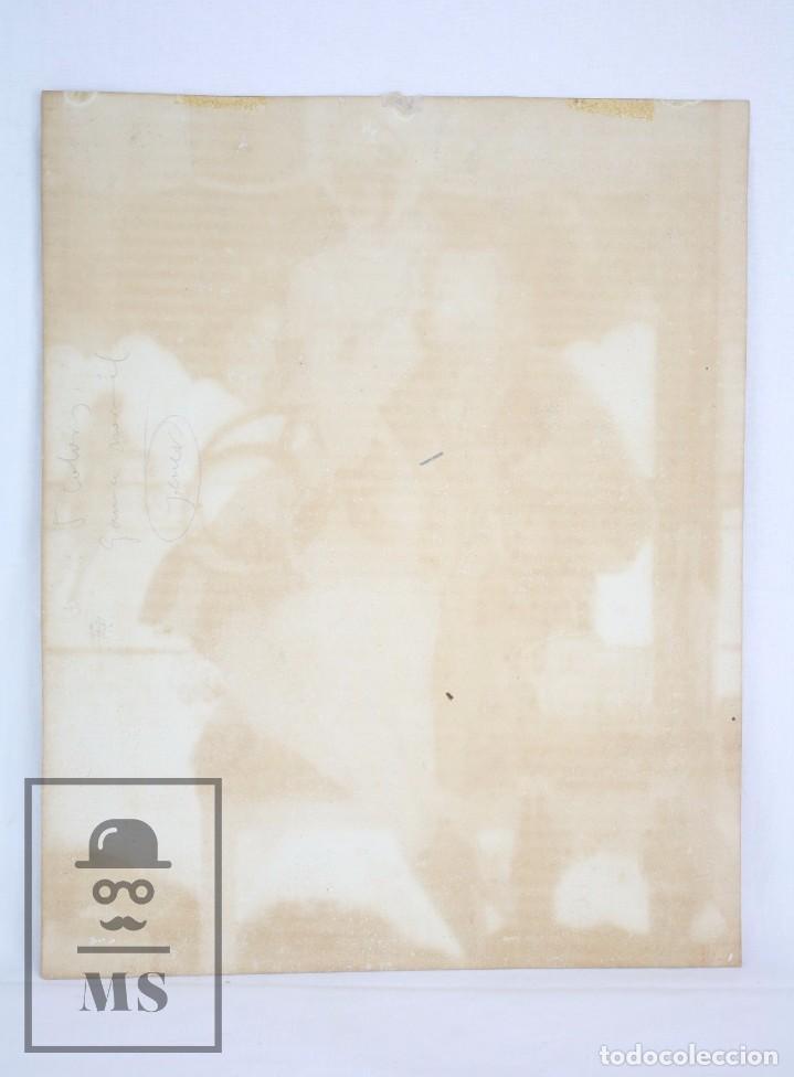 Arte: Dibujo / Ilustración Original al Gouache - Chicas Pin Up Jugando al Tenis. Solé - Años 40-50 - Foto 4 - 81989356