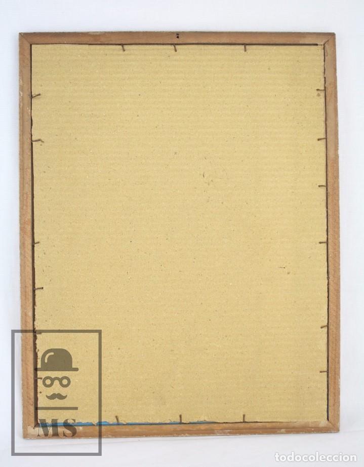 Arte: Dibujo / Ilustración Original al Gouache Enmarcada - Chica / Camarera Pin Un. Solé - Años 40-50 - Foto 7 - 81990164