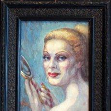 Arte: ANGEL LLACER MUNI (1889-1957) CORDOBA. RETRATO DE MUJER, OLEO SOBRE LIENZO. 27X33CM PRECIO:180€. Lote 82178948