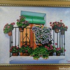 Arte: OLEO . BALCÓN ANDALUZ. Lote 81858219