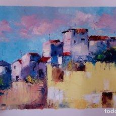 Arte - Balconadas. Óleo sobre lienzo.obra original de autor - 82318856