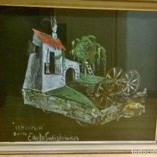 Arte: BOCETO ORIGINAL CARLOS SANTIESTEBAN 'VENDIMIA' - MUY RARO. Lote 82331440