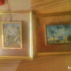 Arte: LOTE DE 2 PRECIOSOS CUADROS ,OLEO SOBRE TABLA FIRMADO. F.B,ENMARCADOS.. Lote 82503176