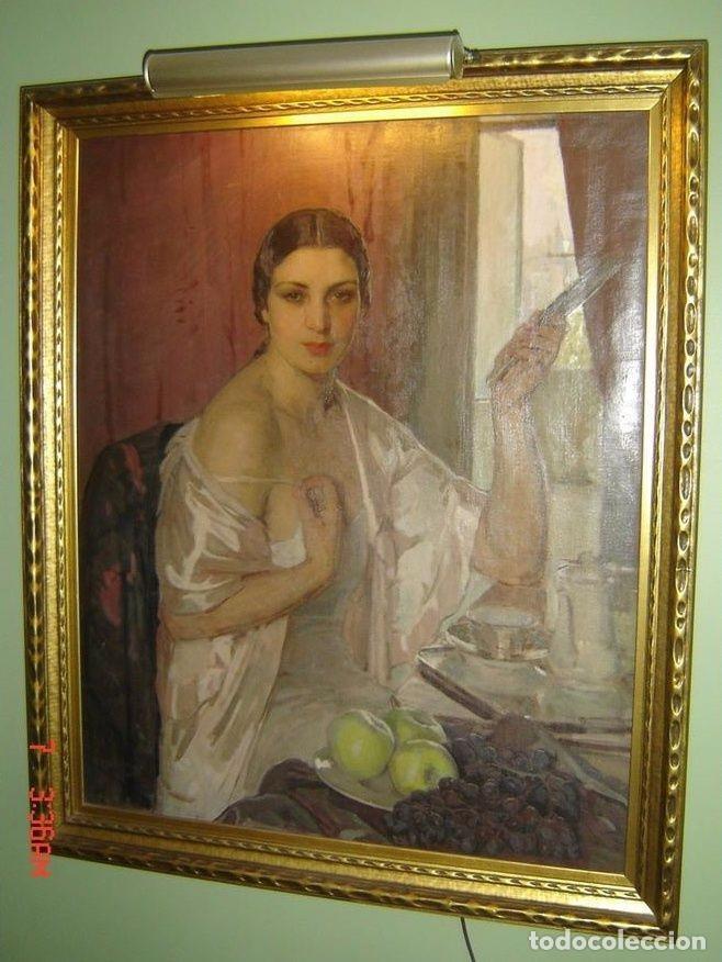 1938 PINTURA LIENZO EN OLEO POR FAMOSO PINTOR ANSELMO MIGUEL NIETO OBRA CATALOGADA EN LIBRO CUADRO (Arte - Pintura - Pintura al Óleo Contemporánea )