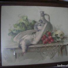 Arte: ANTIGUO CUADRO ACUARELA FIRMADO. Lote 82661104