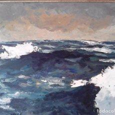Arte: MARINA AUTOR: ALBERDI. PINTURA ACRÍLICA SOBRE TABLA. 70 X 43 CM. FIRMADO, 1996. CON MARCO. . Lote 82793264