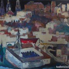 Arte: FELIPE CRIADO (1928-2013) SANTIAGO DE COMPOSTELA. OLEO SOBRE LIENZO.. Lote 82913144