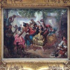 Arte: ÓLEO SOBRE LIENZO DE ANTONIO PÉREZ RUBIO 1822-1888. Lote 82964496