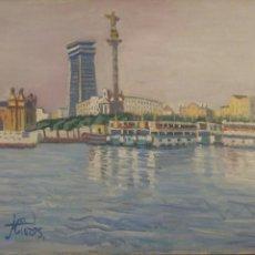 Arte: JORDI CUROS VENTURA - OLOT 1930 ; COLON , OLEO S/LIENZO FDO. MED. 60 X 73 CMS.. Lote 82972116
