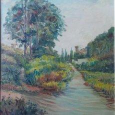 Arte: J.SOLER DE MORELL ,PAISAJE DE TOSSA,OLEO S/LIENZO FDO. FCHADO. 1954 MED.56 X46 CMS.. Lote 82993936