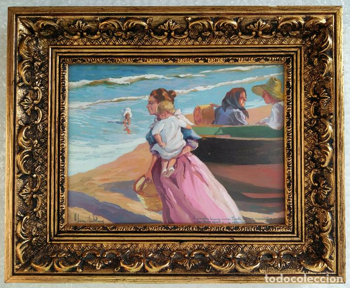 Obra del pintor valenciano vicente sanz cast vendido - Pintor valenciano ...