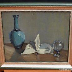 Arte: RAMÓN SANVISENS I MARFULL (BARCELONA, 1917-1987) OLEO SOBRE CARTON. BODEGÓN. Lote 83351244