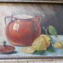 Arte: PEQUEÑO ÓLEO SOBRE TABLEX -ENMARCADO- S/F ZONA DE LEVANTE.- CON FIRMA DEL AUTOR. Lote 83366296