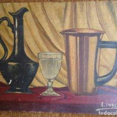 Arte: ÓLEO DE E INSUA (VILLALBA LUGO) 40 X 30 CM.AÑOS 1940. Lote 83368032