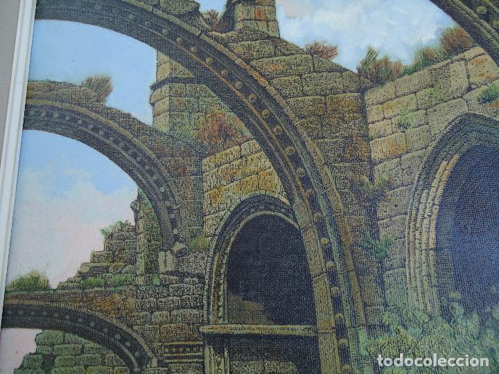 Arte: IMPRESIONANTE ÓLEO DE E INSUA 77 X 61,5 CM. VILALBA LUGO 1950 STA MARIA CAMBADOS - Foto 7 - 83369528