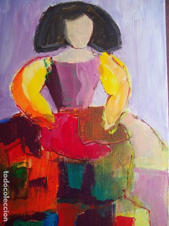 Arte: MENINA por ROSA LLORDEN óleo lienzo 40 x 30cm. - Foto 2 - 83379260