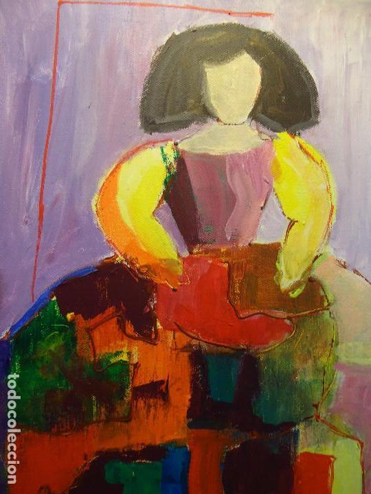 Arte: MENINA por ROSA LLORDEN óleo lienzo 40 x 30cm. - Foto 6 - 83379260