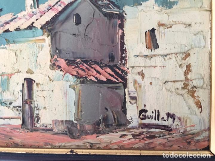 Arte: OLEO SOBRE TABLERO, PAISAJE RURAL,25 X 20 CM. FIRMADO GUILLEM - Foto 2 - 83465680