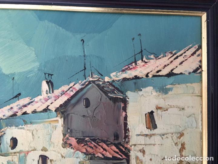 Arte: OLEO SOBRE TABLERO, PAISAJE RURAL,25 X 20 CM. FIRMADO GUILLEM - Foto 3 - 83465680
