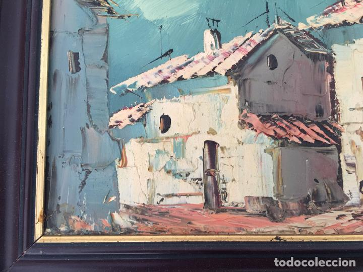 Arte: OLEO SOBRE TABLERO, PAISAJE RURAL,25 X 20 CM. FIRMADO GUILLEM - Foto 5 - 83465680