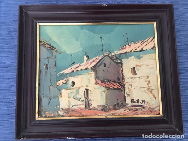 Arte: OLEO SOBRE TABLERO, PAISAJE RURAL,25 X 20 CM. FIRMADO GUILLEM - Foto 6 - 83465680