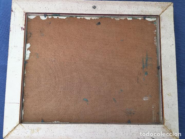 Arte: OLEO SOBRE TABLERO, PAISAJE RURAL,25 X 20 CM. FIRMADO GUILLEM - Foto 7 - 83465680