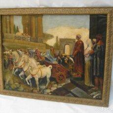 Arte - GRAN CUADRO PINTURA OLEO ANTIGUA ESCENA CLASICA FIRMADA VICENTE CARBONELL ROMA GRECIA - 134465875