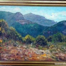 Arte: AGUSTI - PAISAJE - OLEO 45X55 ENMARCADO 56X64 TERRASSA?. Lote 83608308