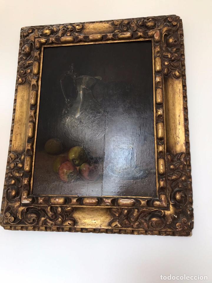 Arte: Cuadro, pintura; Bodegón; oleo sobre tabla, - Foto 9 - 45259067