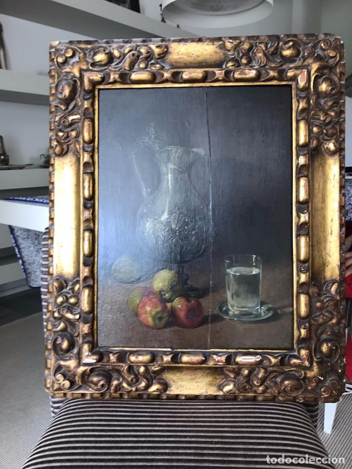 Arte: Cuadro, pintura; Bodegón; oleo sobre tabla, - Foto 11 - 45259067