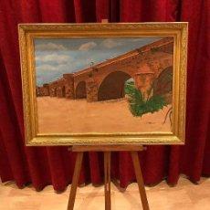 Arte: PINTURA HISTÓRICA PUENTE DE MOLINS DE REI (BARCELONA). Lote 83818500