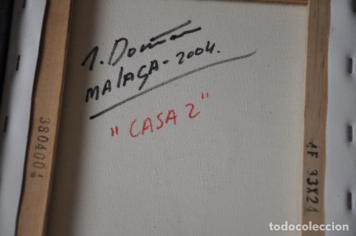 Arte: JOSE MARIA FERNANDEZ DOÑA OBRA ORIGINAL SOBRE LIENZO , MALAGA 2004 - Foto 3 - 83918060