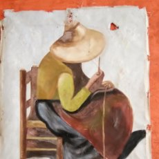Arte: PRECIOSA PINTURA AL OLEO SOBRE LIENZO PAYESA IBICENCA FIRMADO POR F.LLULL (SE ADMITEN OFERTAS). Lote 83934444