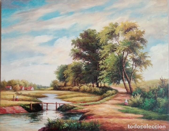 OLEO PAISAJE INGLES (Arte - Pintura - Pintura al Óleo Contemporánea )