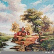 Arte: OLEO DE PAISAJE INGLES. Lote 83949248