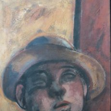 Arte: ALFONSO SUCASAS. RETRATO. OLEO SOBRE LIENZO. (LALIN 1940-2012).. Lote 84300528