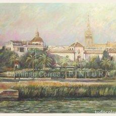Arte: 'SEVILLA DESDE TRIANA II' ÓLEO LIENZO. 100 X 81 CM. DOMINGO CORREA.. Lote 84371644