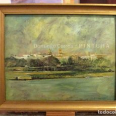 Arte: ÓLEO / TABLA. 'SEVILLA, GIRALDA DESDE TRIANA III'. DOMINGO CORREA. Lote 84406488