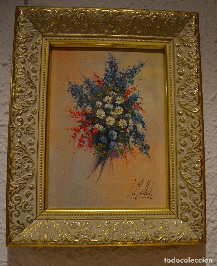 pintura al oleo enmarcada firmada i.mallol. - Comprar Pintura al ...