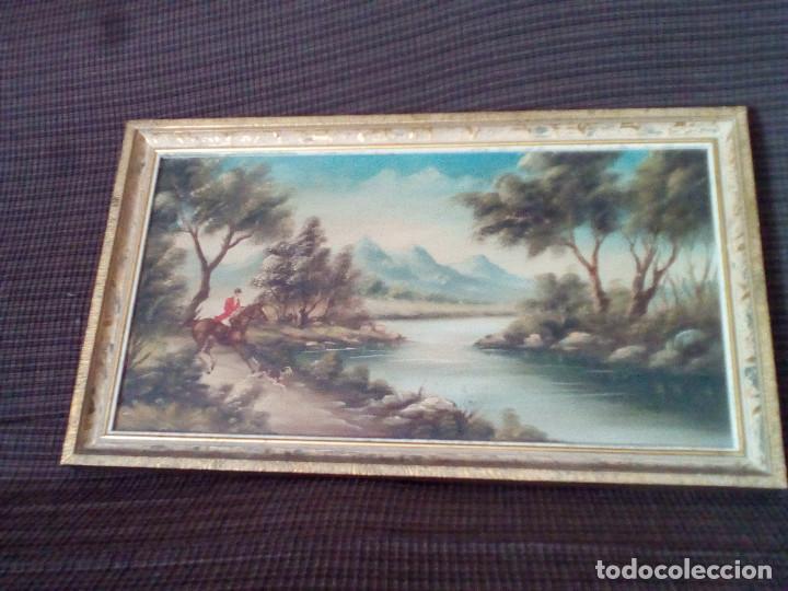 PEQUEÑO CUADRO CON MARCO,AL OLEO,SOBRE TABLA.PAISAJE. (Arte - Pintura - Pintura al Óleo Moderna sin fecha definida)