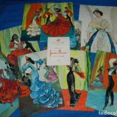 Arte: (M) DIBUJANTE SENEN UBIÑA - LOTE DE 9 OLEOS DE FLAMENCO , BAILE ESPAÑOL , SALA ROVIRA 1950. Lote 84701696