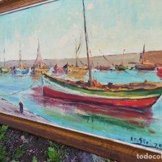 Arte: PRECIOSA MARINA ÓLEO SOBRE LIENZO- PINTOR R.PASTÓ- 1970. ENMARCADA-90X50CM.. Lote 84704136