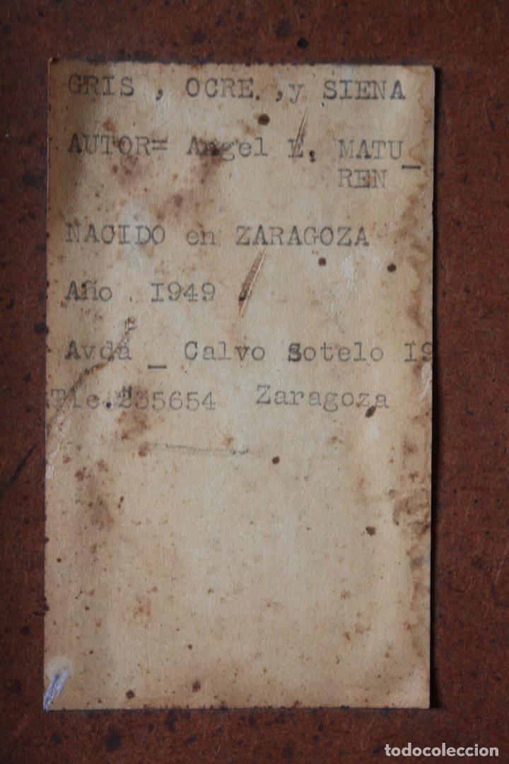 Arte: ÓLEO SOBRE TABLEX DE ÁNGEL ESTEBAN MATURÉN (ZARAGOZA 1949- TARAZONA 2005). MEDIDAS: 91.5 X 73. - Foto 7 - 84711692