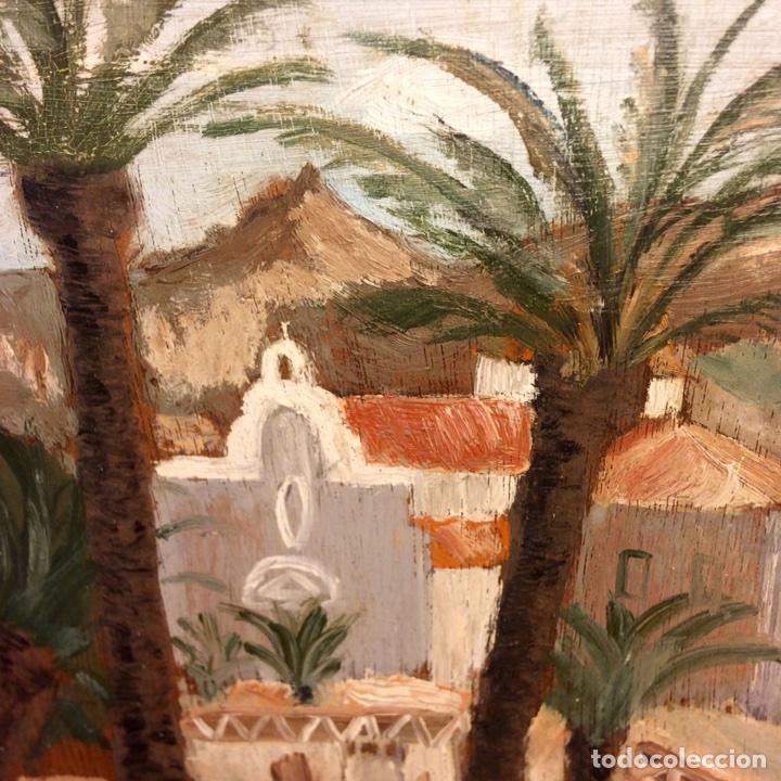 Arte: Miniatura, paisaje, óleo sobre tabla, mitad Siglo XX - Foto 2 - 84716623