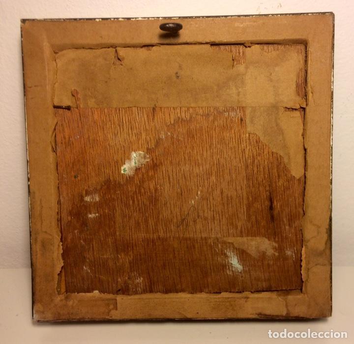 Arte: Miniatura, paisaje, óleo sobre tabla, mitad Siglo XX - Foto 3 - 84716623